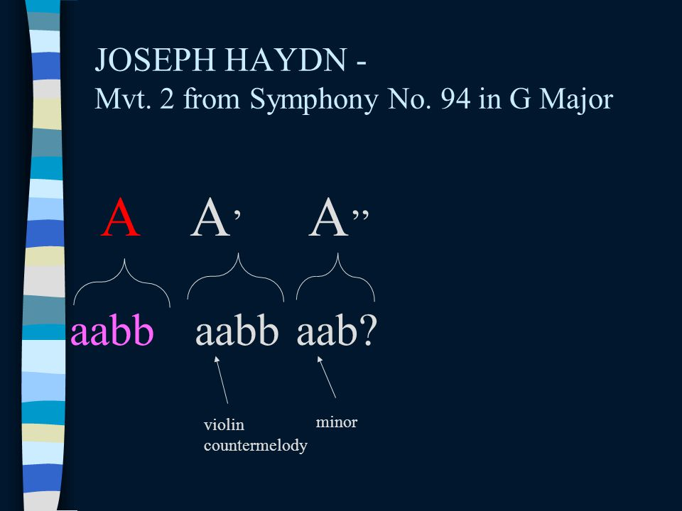 JOSEPH HAYDN - Mvt. 2 from Symphony No. 94 in G Major