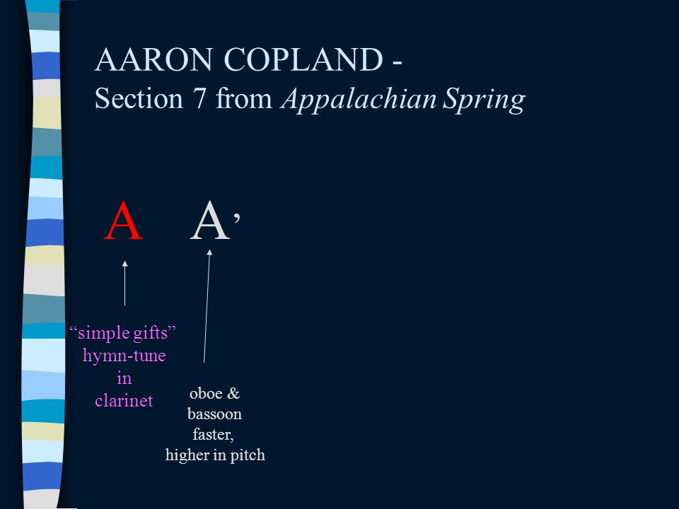 AARON COPLAND - Section 7 from Appalachian Spring