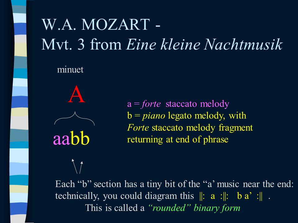 W.A. MOZART - Mvt. 3 from Eine kleine Nachtmusik