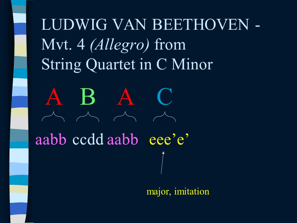 LUDWIG VAN BEETHOVEN - Mvt. 4 (Allegro) from String Quartet in C Minor