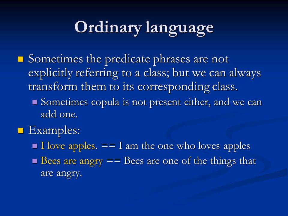 Ordinary language