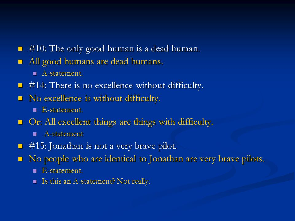 #10: The only good human is a dead human.