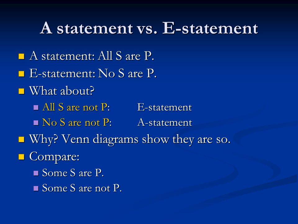 A statement vs. E-statement