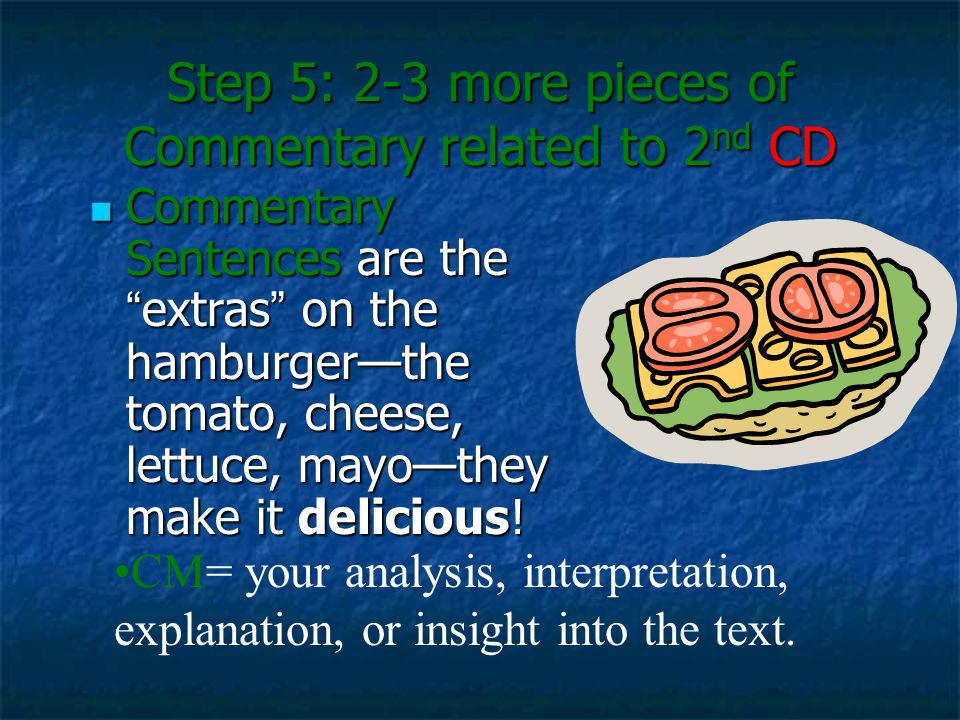 Step 5: 2-3 more pieces of Commentary related to 2nd CD