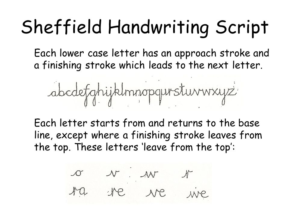Sheffield Handwriting Script