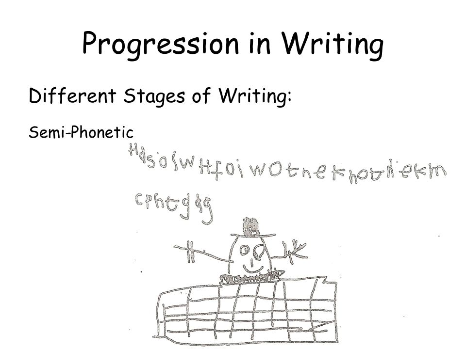 Progression in Writing