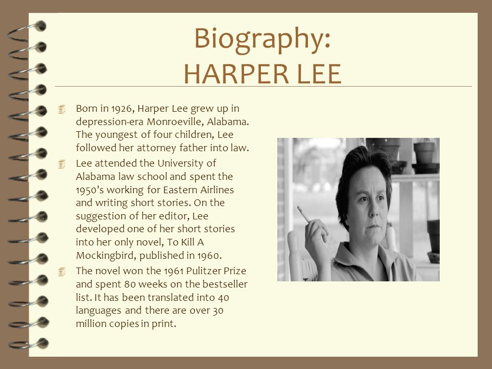Biography: HARPER LEE