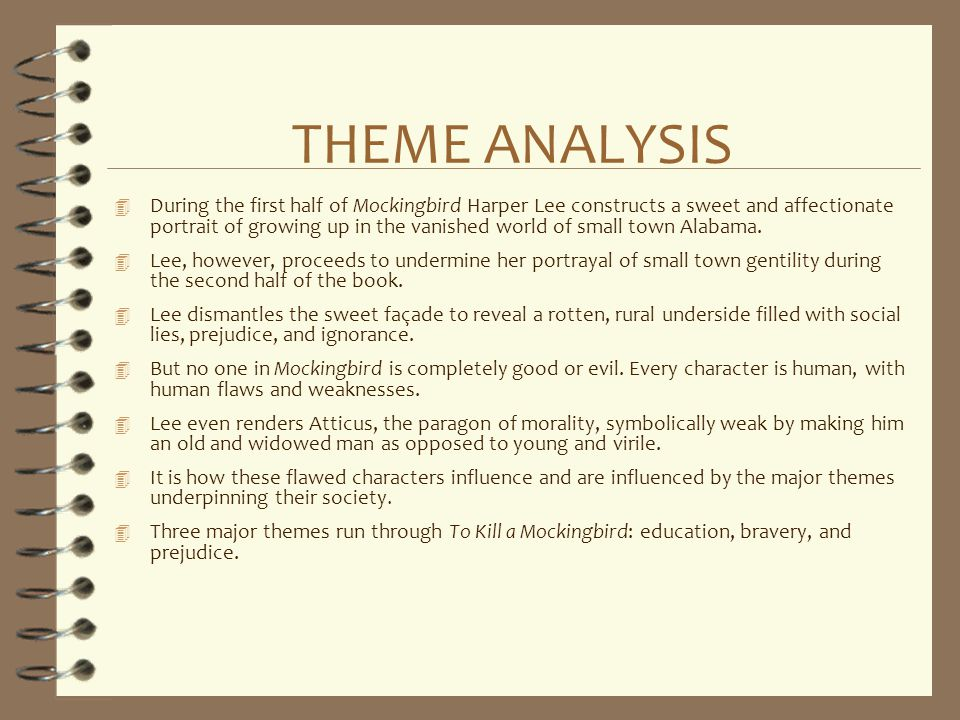 THEME ANALYSIS