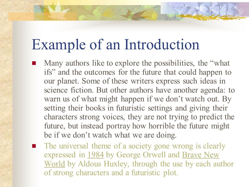 Example of an Introduction