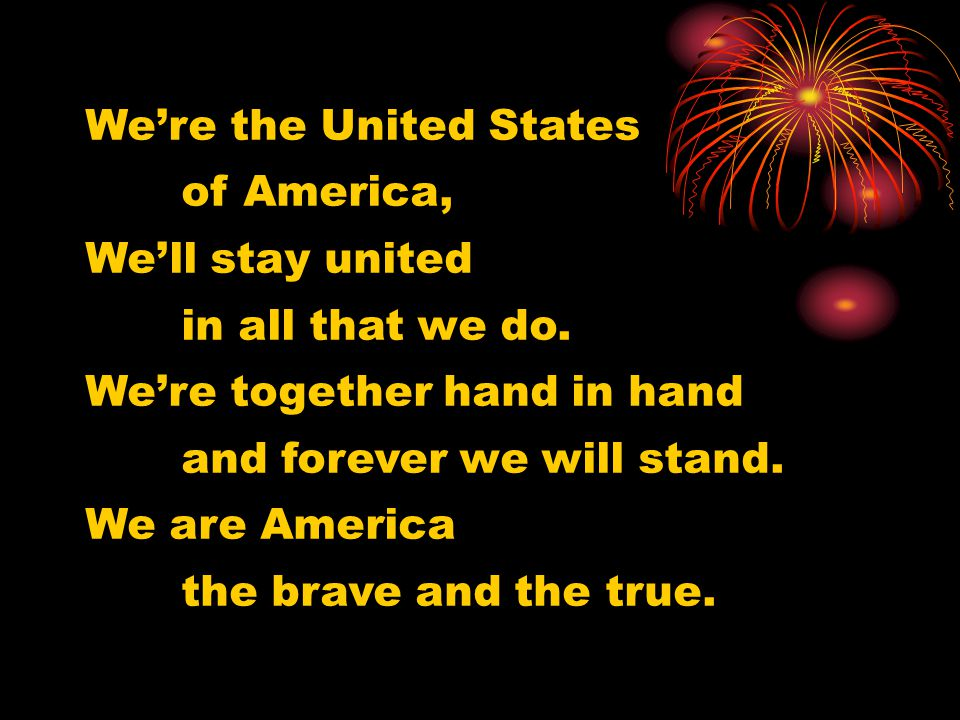 We're the United States