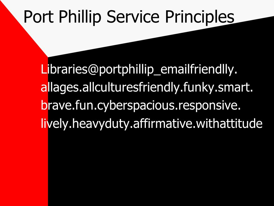 Port Phillip Service Principles