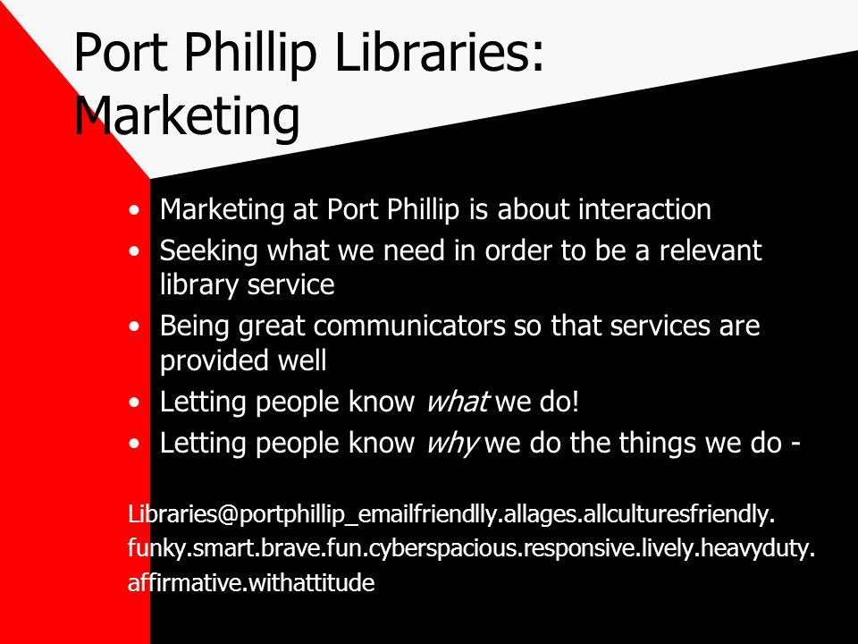 Port Phillip Libraries: Marketing