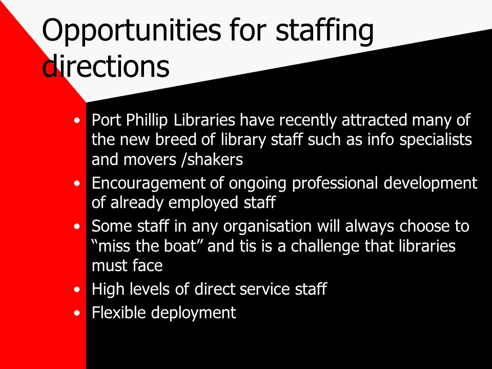 Opportunities for staffing directions