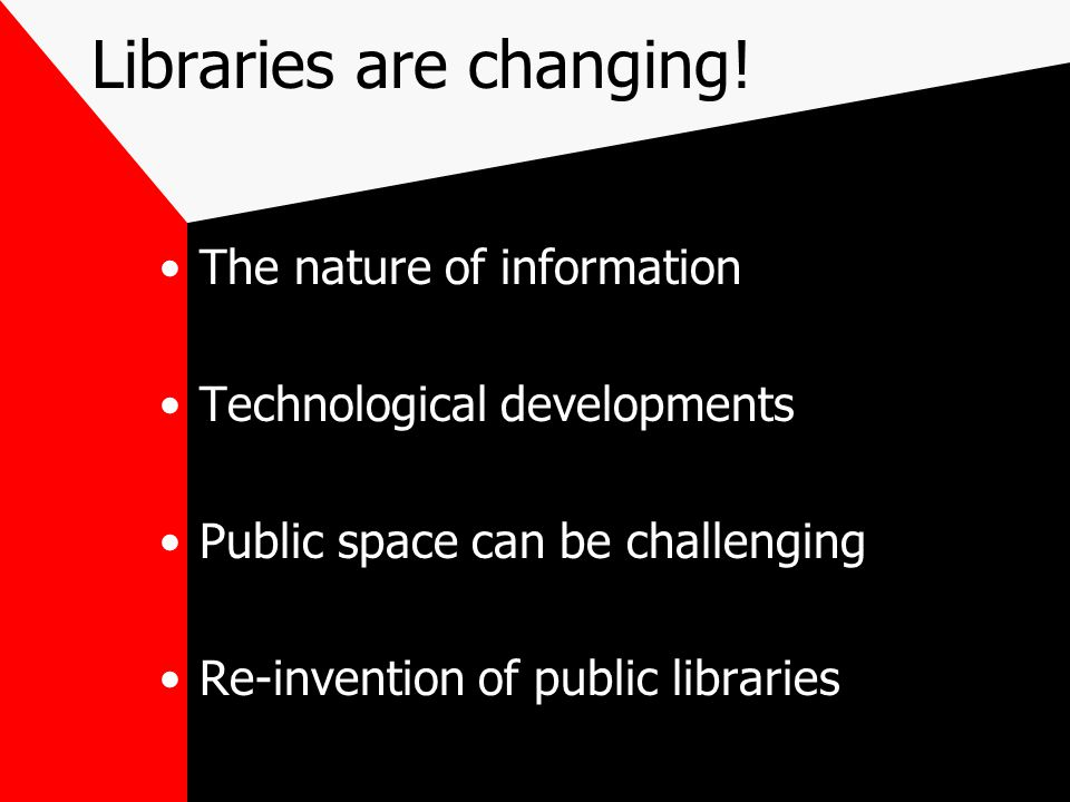 Libraries are changing!