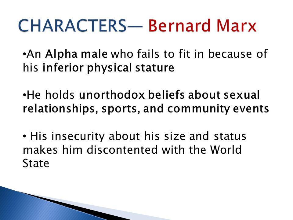 CHARACTERS— Bernard Marx