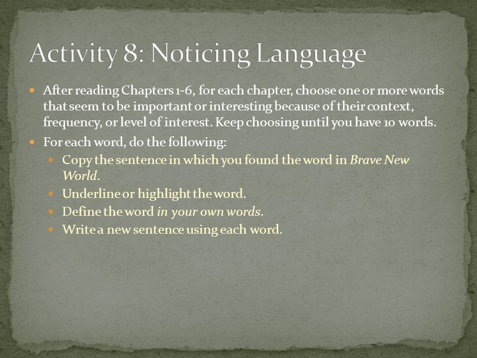 Activity 8: Noticing Language