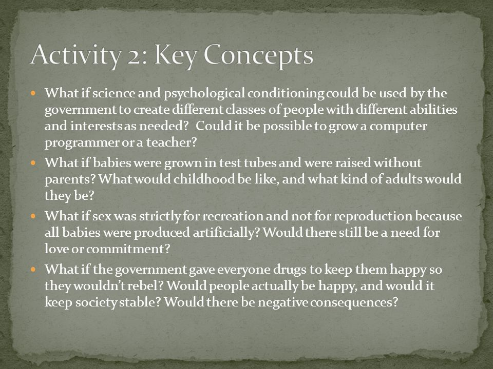 Activity 2: Key Concepts