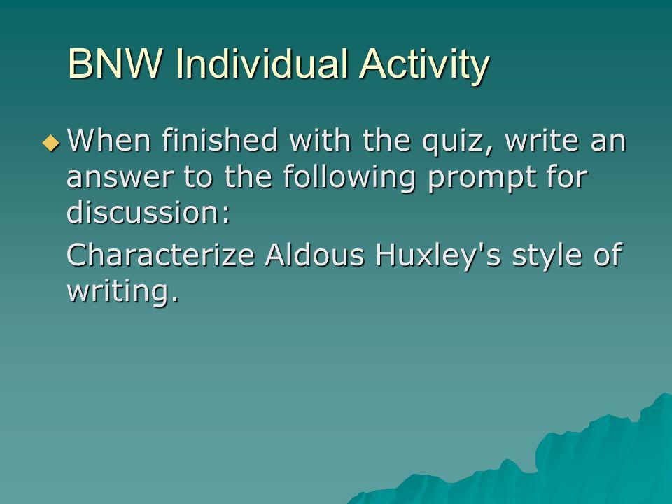 BNW Individual Activity