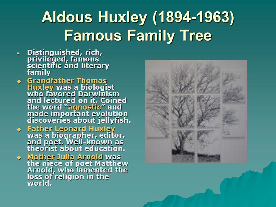 Aldous Huxley (1894-1963) Famous Family Tree