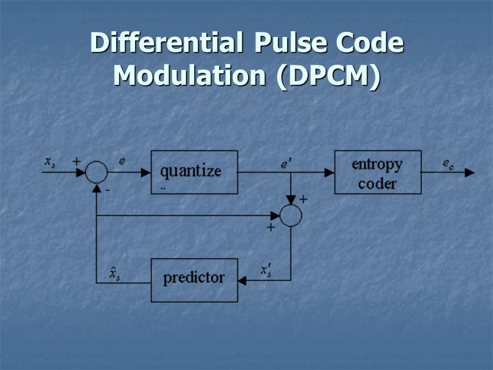Differential Pulse Code Modulation (DPCM)