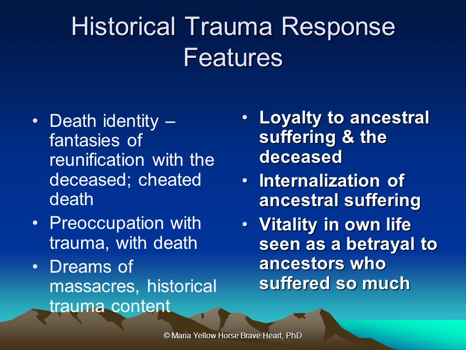 Historical Trauma Response Features