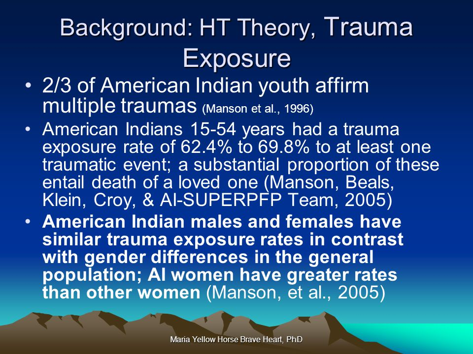 Background: HT Theory, Trauma Exposure