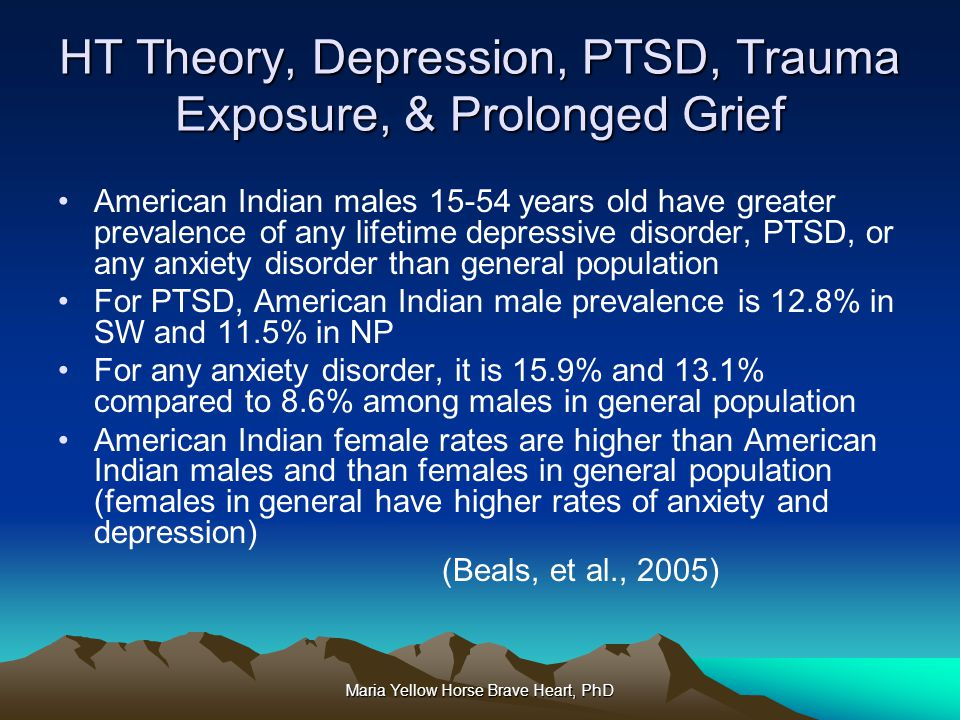 HT Theory, Depression, PTSD, Trauma Exposure, & Prolonged Grief