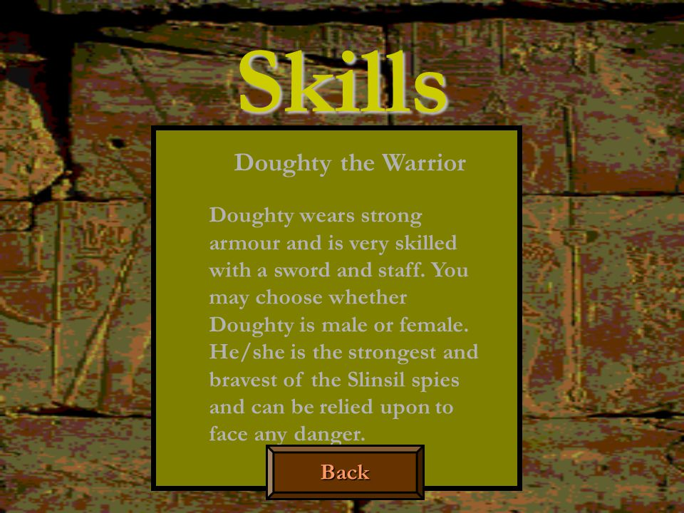 Skills Doughty the Warrior