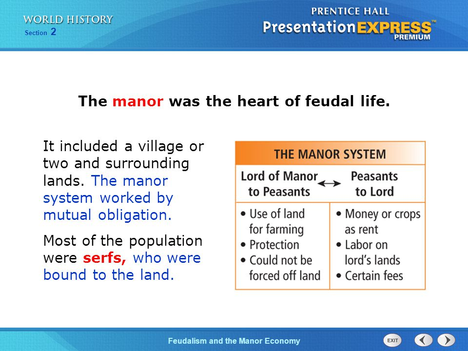 The manor was the heart of feudal life.
