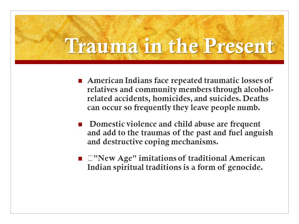 Trauma in the Present
