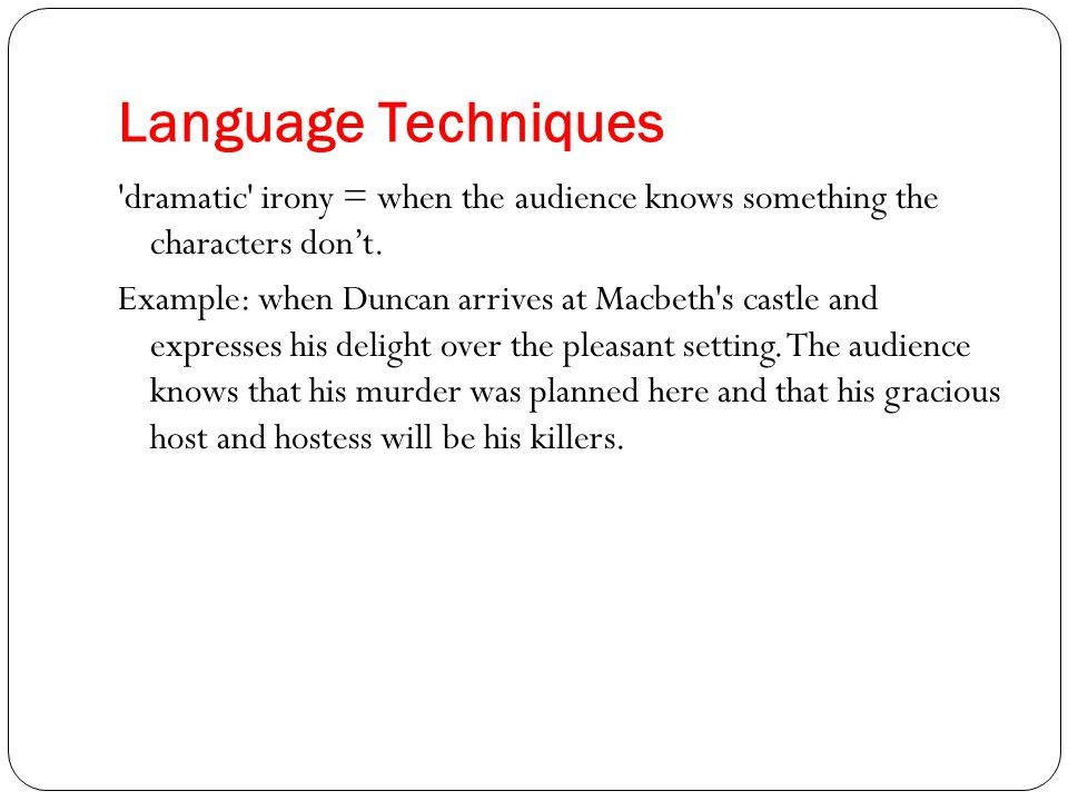essays on irony in macbeth Macbeth study guide contains a biography of william shakespeare, literature essays, a complete e-text, quiz questions, major themes, characters, and a full summary and analysis macbeth study guide contains a biography of william shakespeare, literature essays, a complete e-text, quiz questions, major themes, characters, and a full.