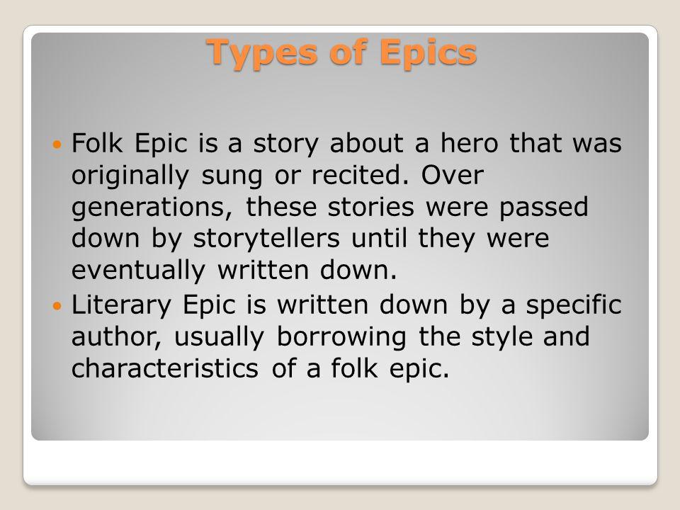 Types of Epics