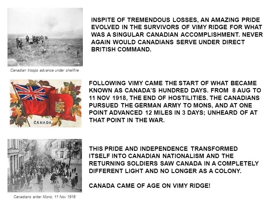 Canadians enter Mons, 11 Nov 1918