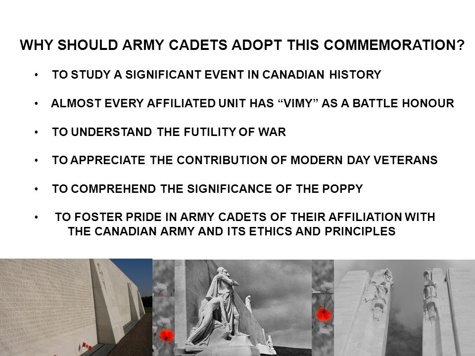 WHY SHOULD ARMY CADETS ADOPT THIS COMMEMORATION