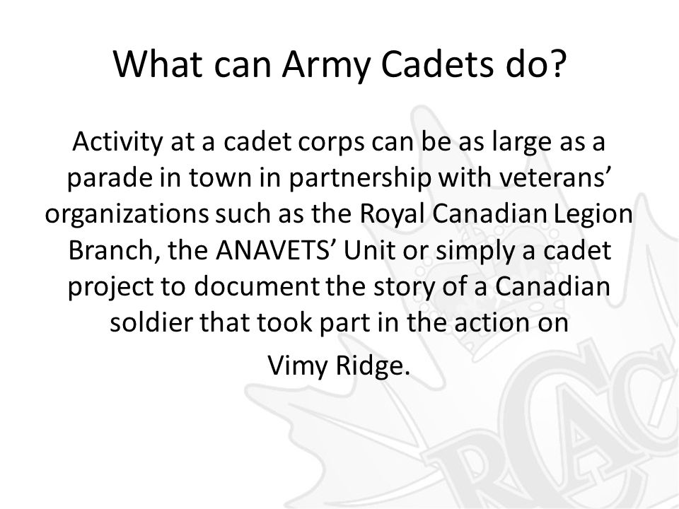 What can Army Cadets do