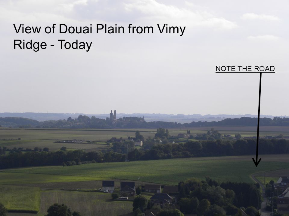 View of Douai Plain from Vimy Ridge - Today