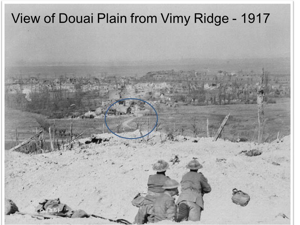 View of Douai Plain from Vimy Ridge - 1917