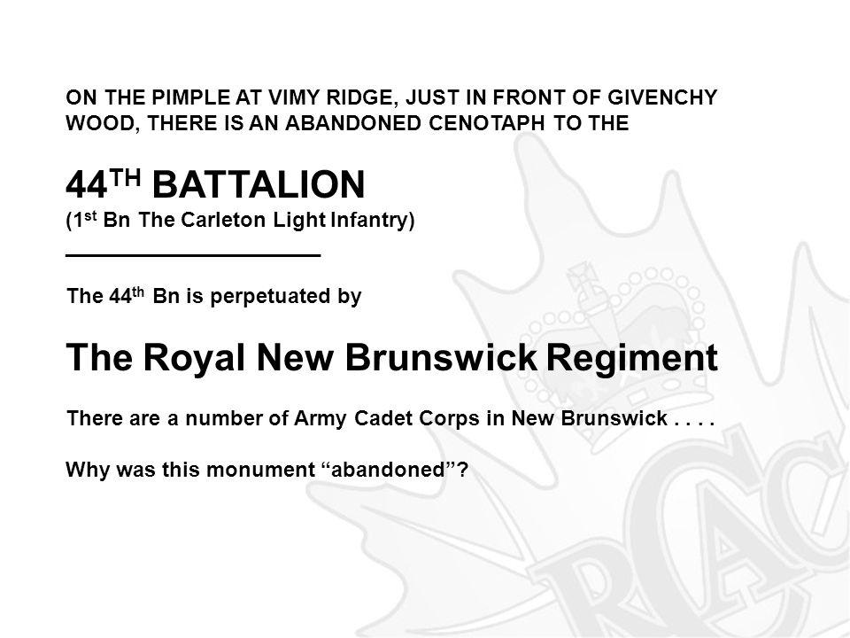 The Royal New Brunswick Regiment
