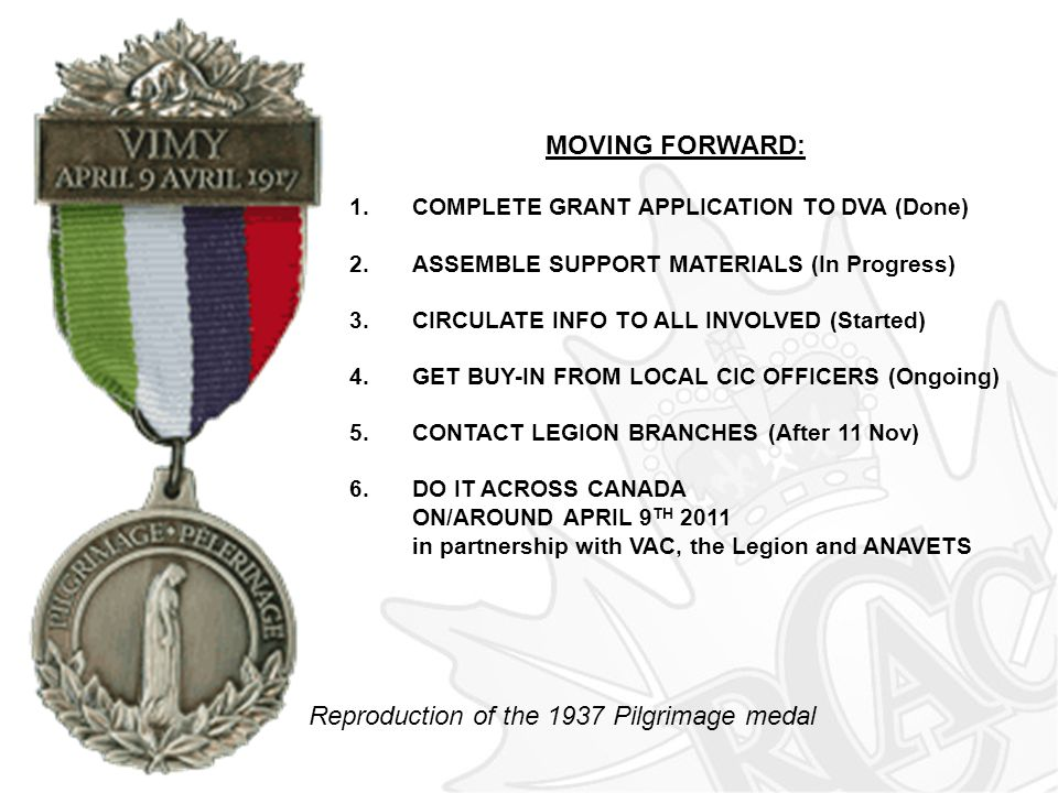 Reproduction of the 1937 Pilgrimage medal