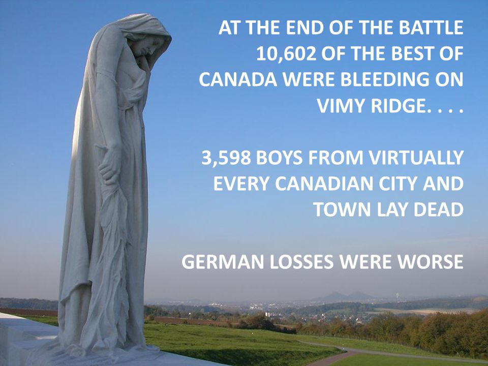 3,598 BOYS FROM VIRTUALLY EVERY CANADIAN CITY AND TOWN LAY DEAD