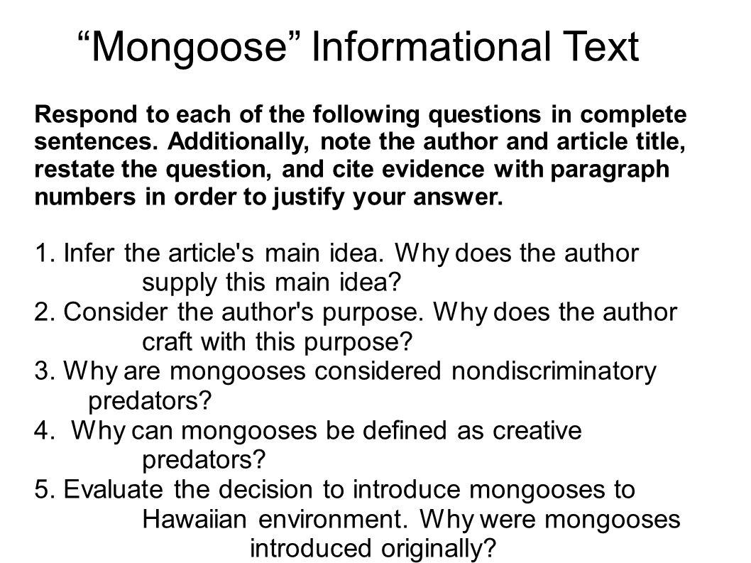 Mongoose Informational Text