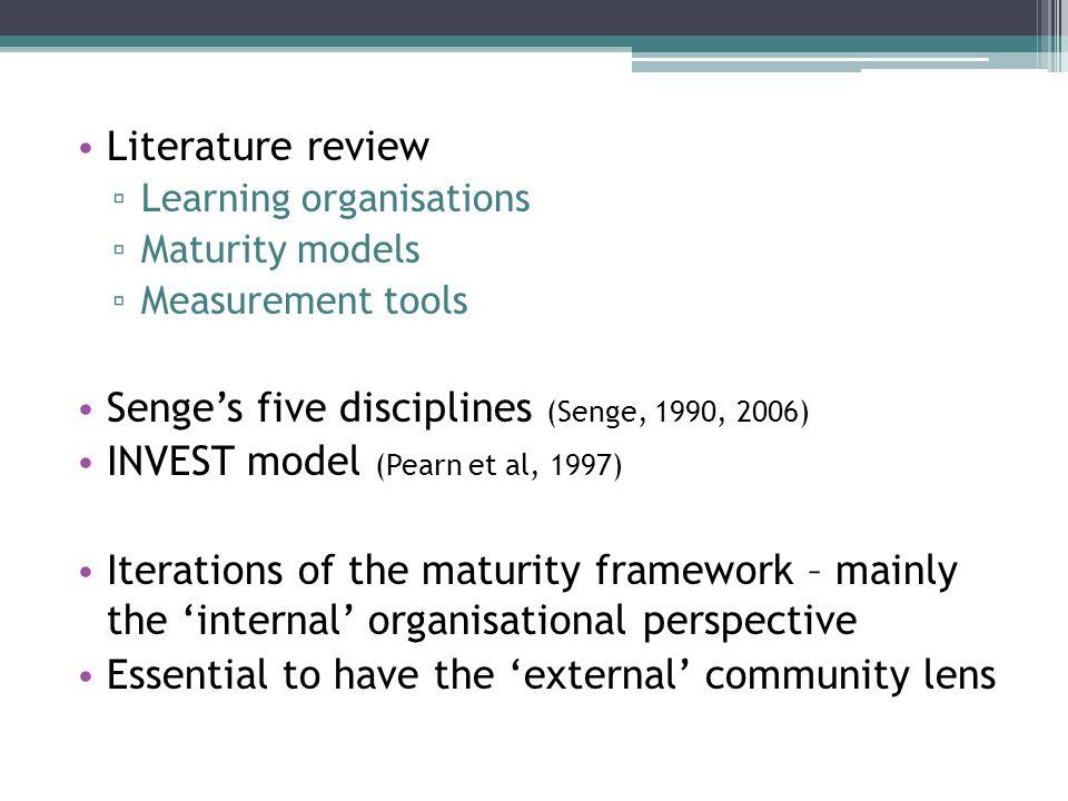 Senge's five disciplines (Senge, 1990, 2006)