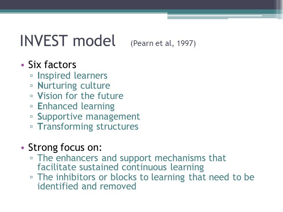 INVEST model (Pearn et al, 1997)