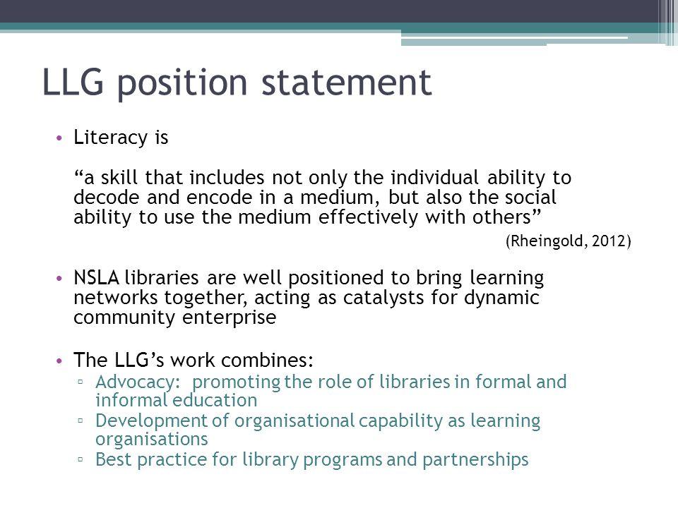 LLG position statement