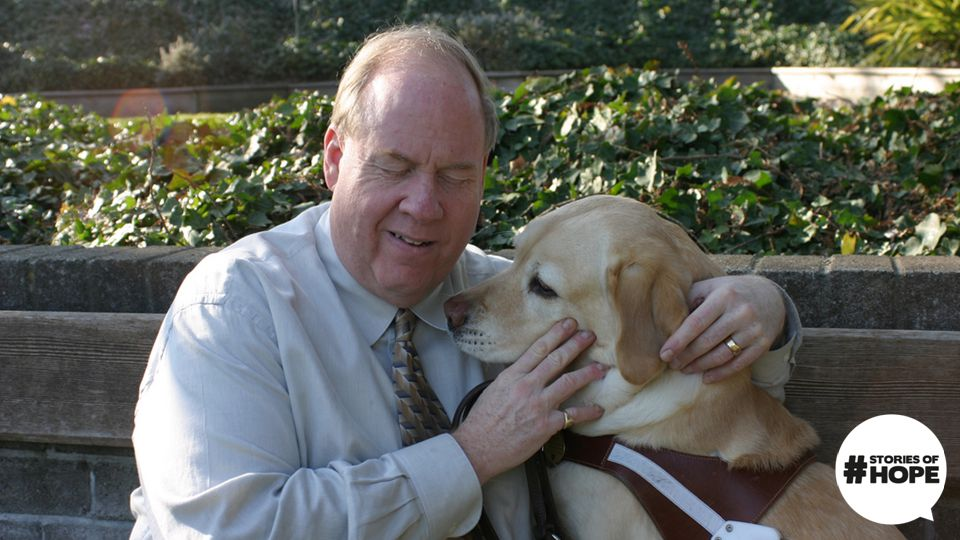 Roselle calmly led her blind owner, Michael Hingson, to stairwell B …