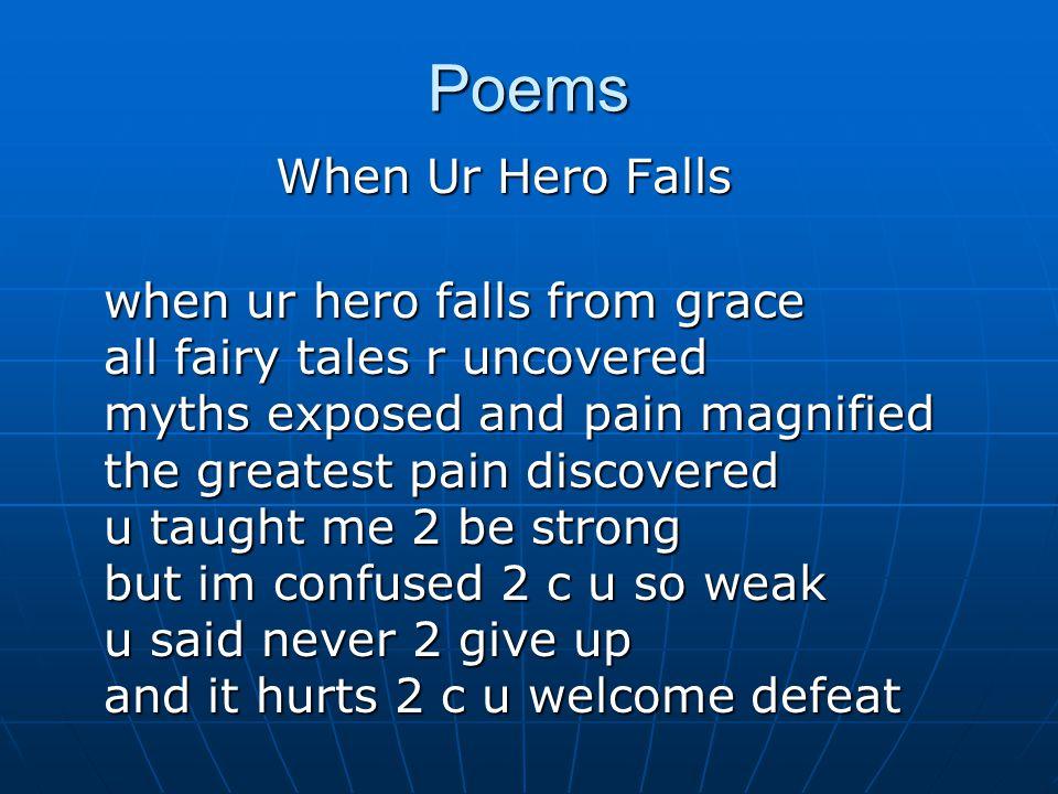 Poems When Ur Hero Falls