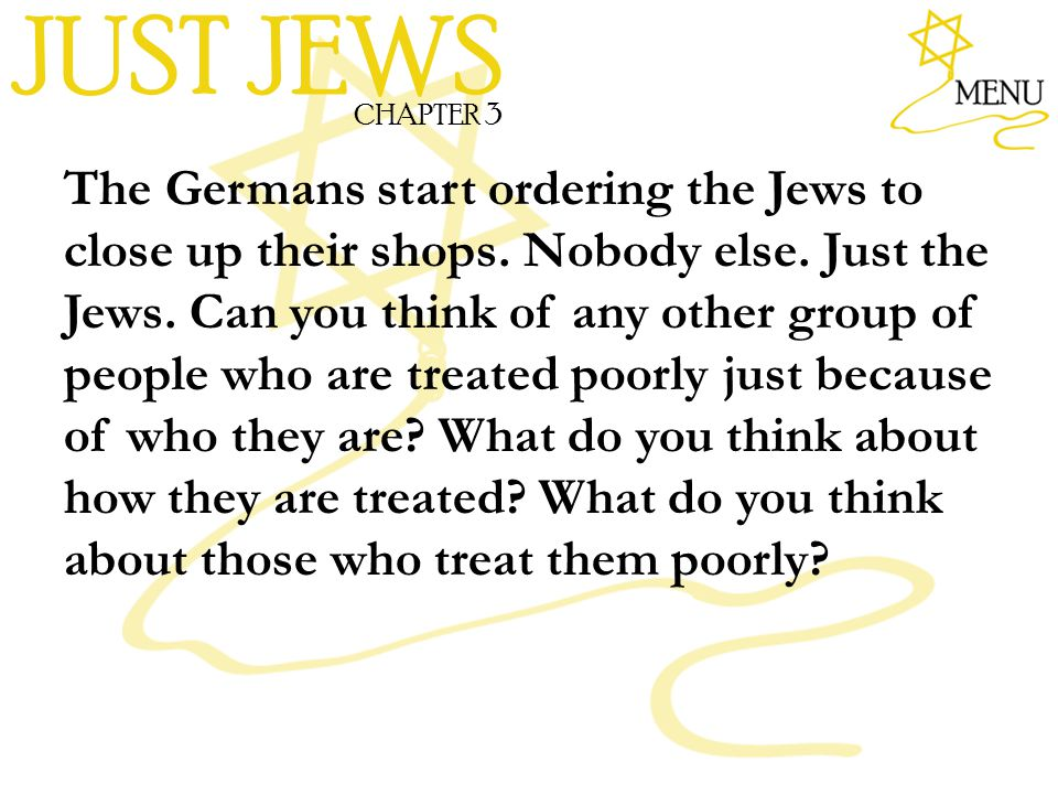 JUST JEWS CHAPTER 3.