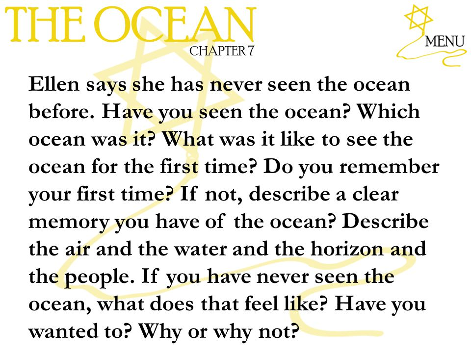 THE OCEAN CHAPTER 7.