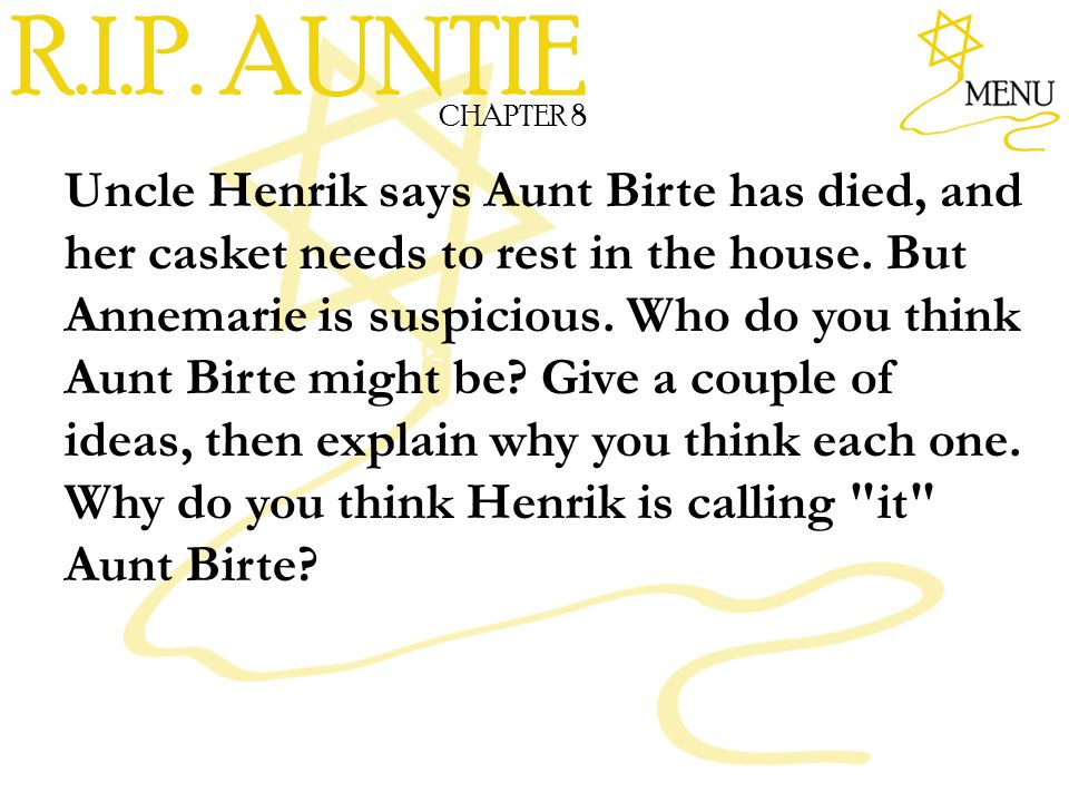 R.I.P. AUNTIE CHAPTER 8.