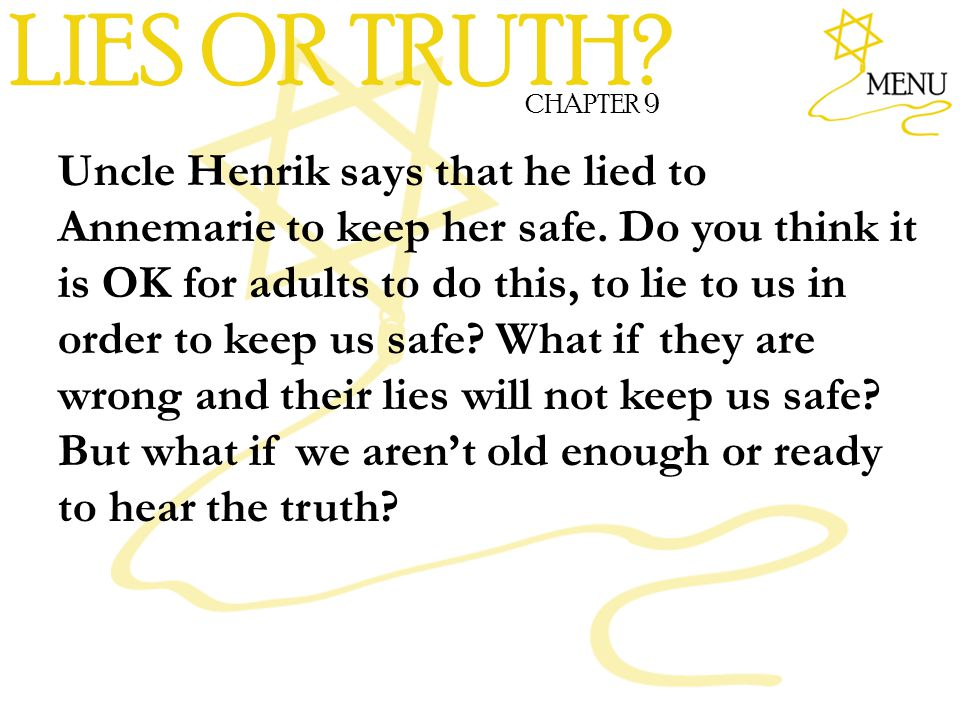 LIES OR TRUTH CHAPTER 9.
